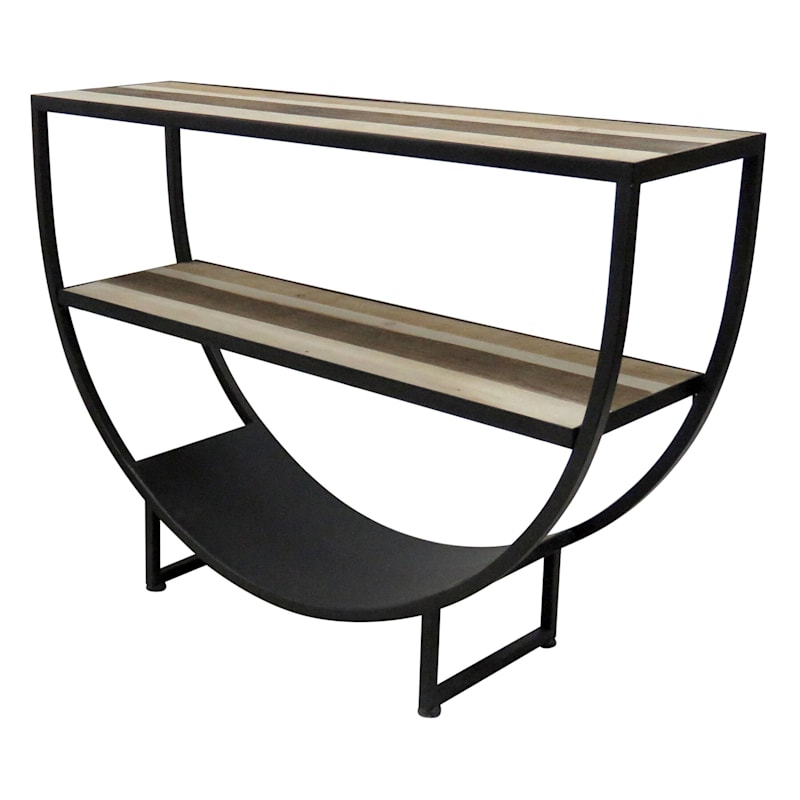 2 Tier Curved End Table