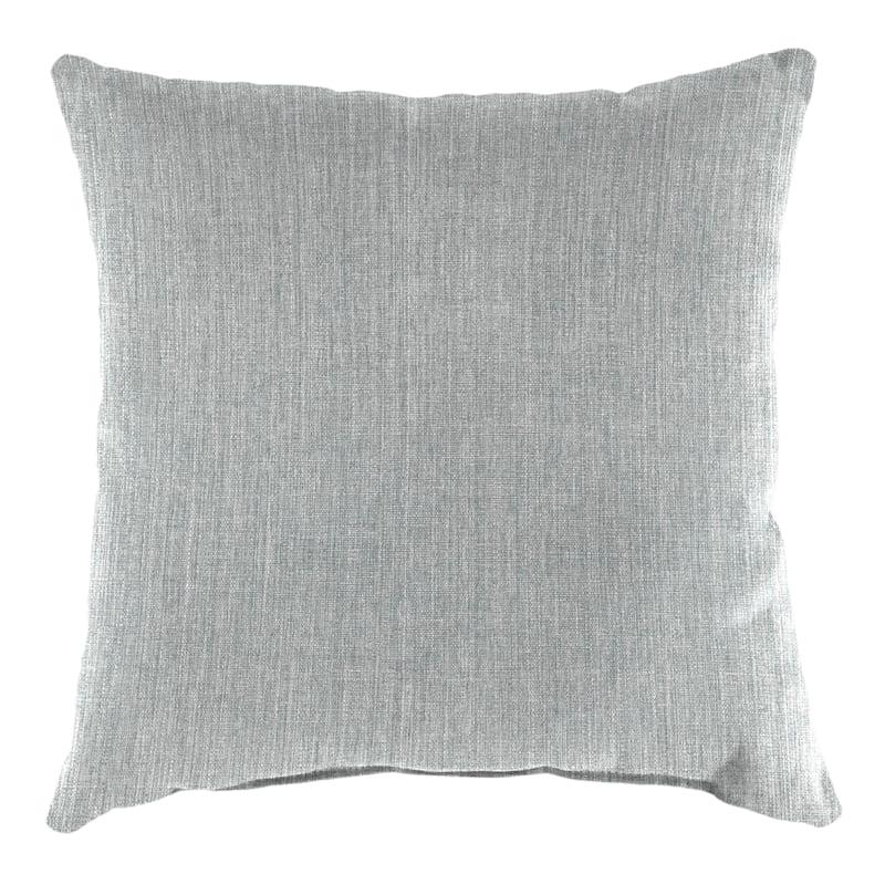 "Tahiti Silver Outdoor Square Pillow, 16"""