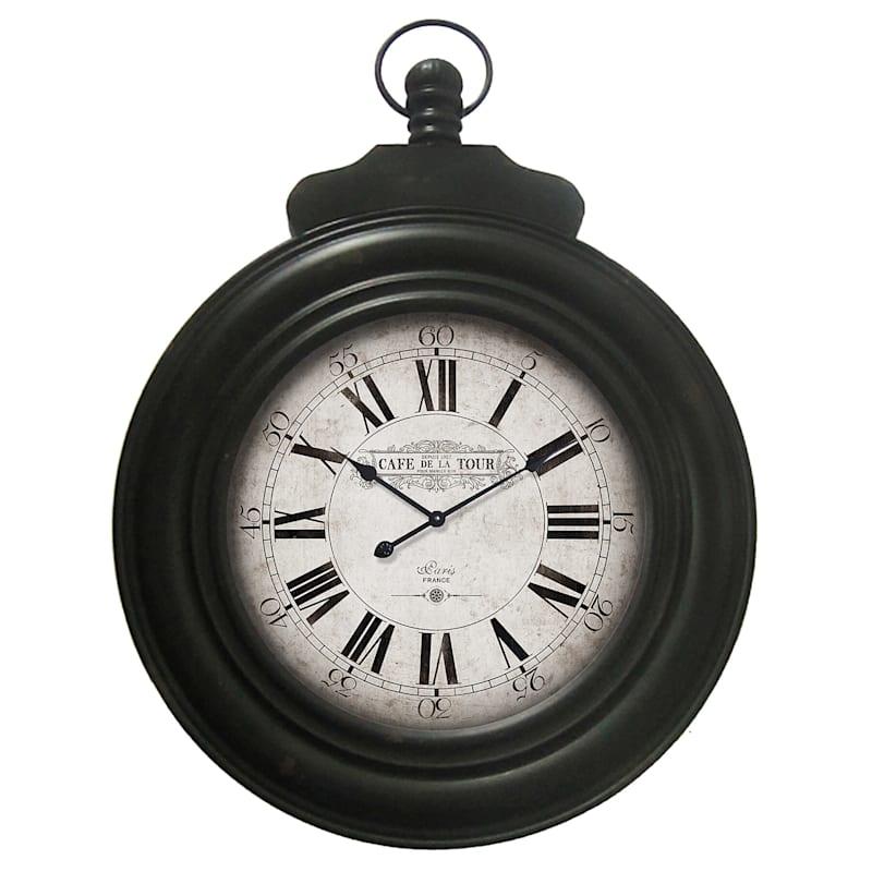 24X33 Black Metal Clock