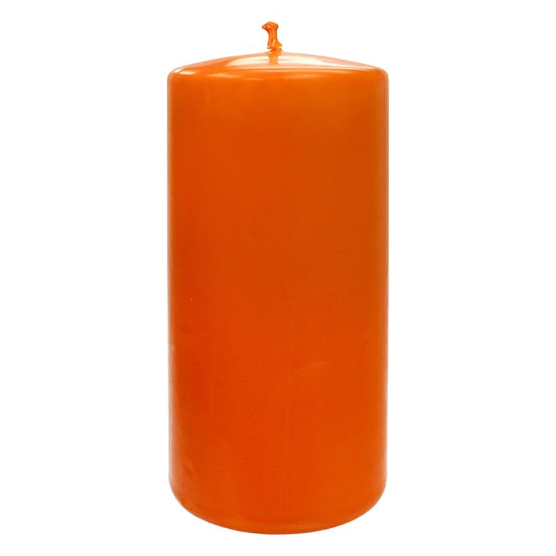 Orange Pillar Candle, 3x6