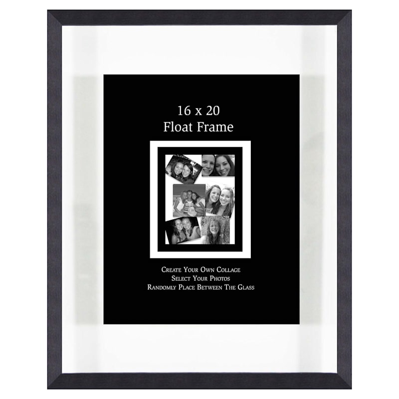 16X20 Charcoal Float Wall Photo Frame