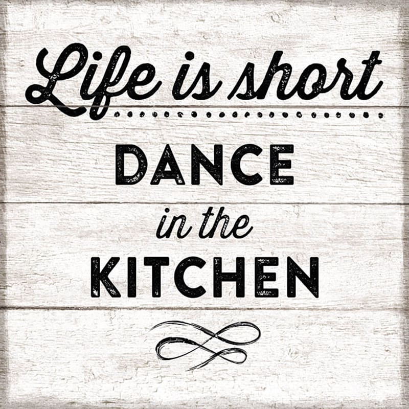 13X13 Dance In The Kitchen Wood Plaque