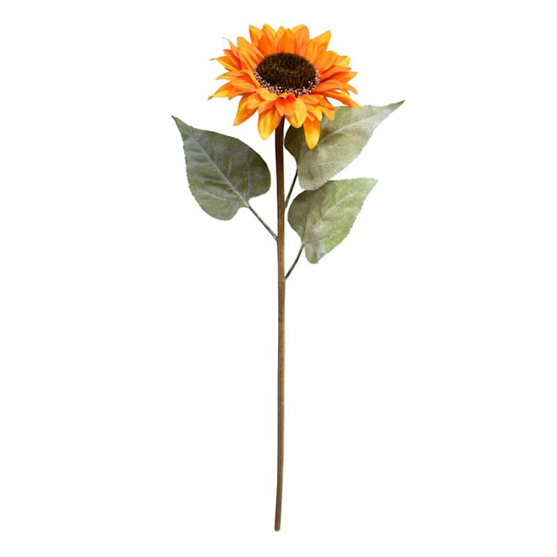 "Orange Sunflower Stem, 34"""
