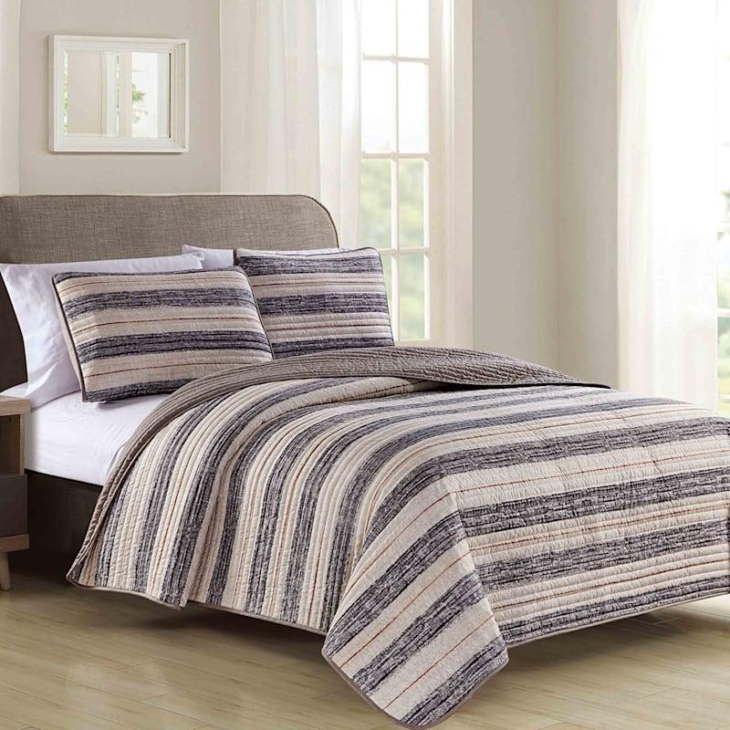 Roman Stripe Quilt 3-Piece Set, King