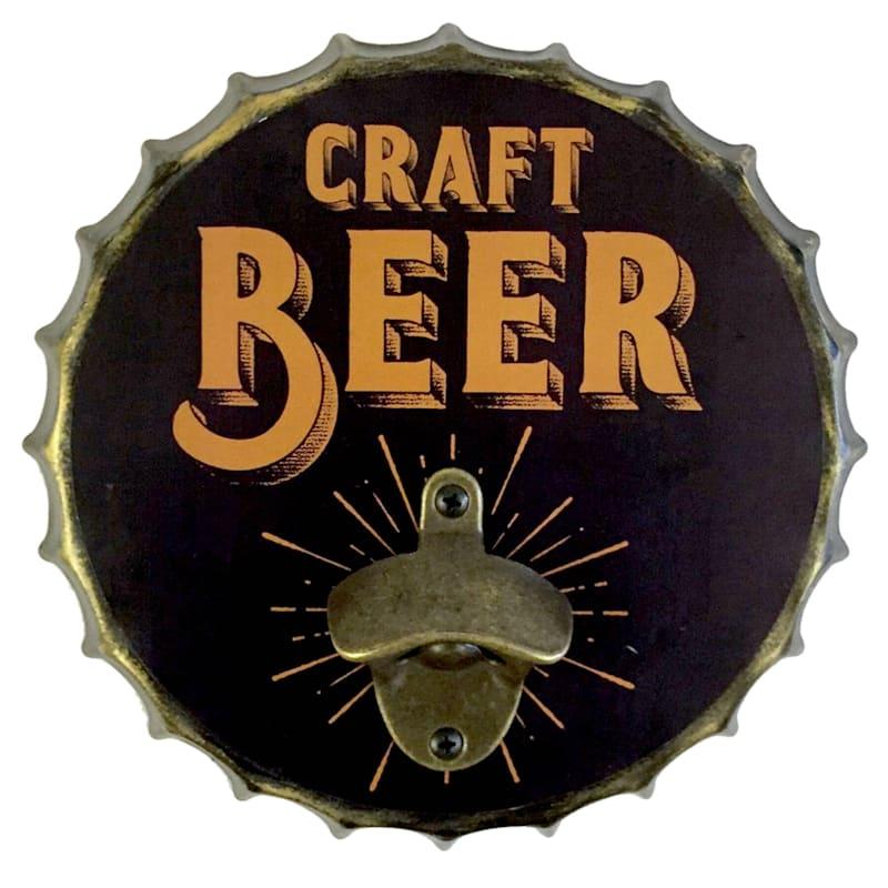 9X9 Metal Bottle Cap Wall Mounted Bottle Opener Craft Beer