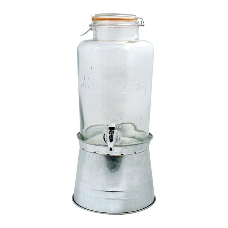 2 Gallon Timeless Drink Dispenser On Galvanized Base