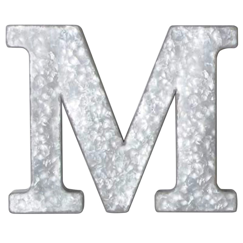 12in. Galvanized Metal Monogram M