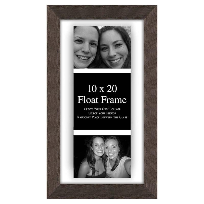 10 X 10-in/ 4 X 6-in Gray Float Frame