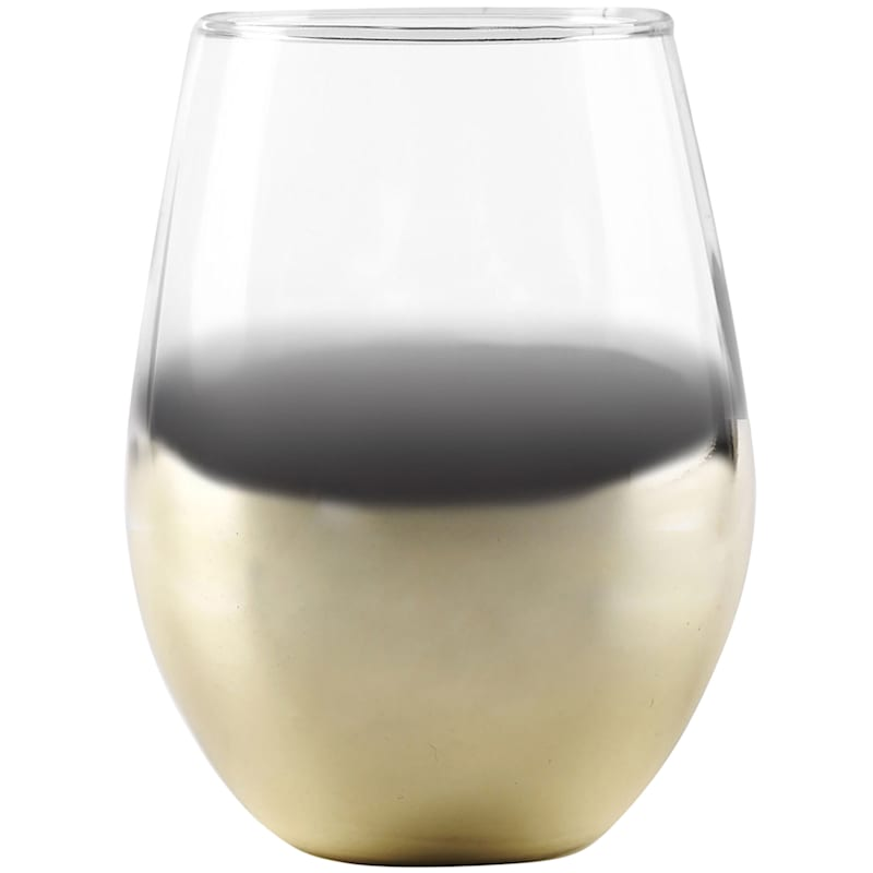 17oz Gold Ombre Wine Glass