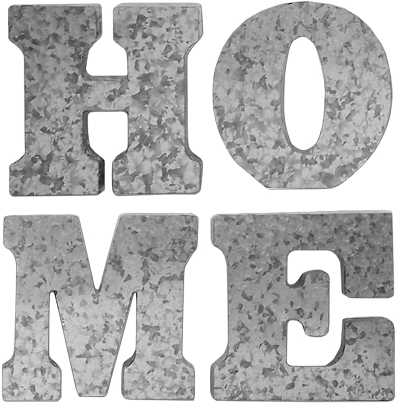 10X10 4-Piece Galvanized Home Letters Wall Decor
