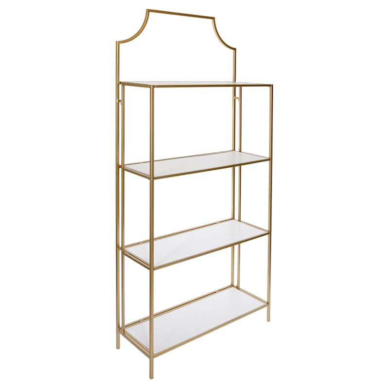 Heirloom Gold Metal Folding Shelf