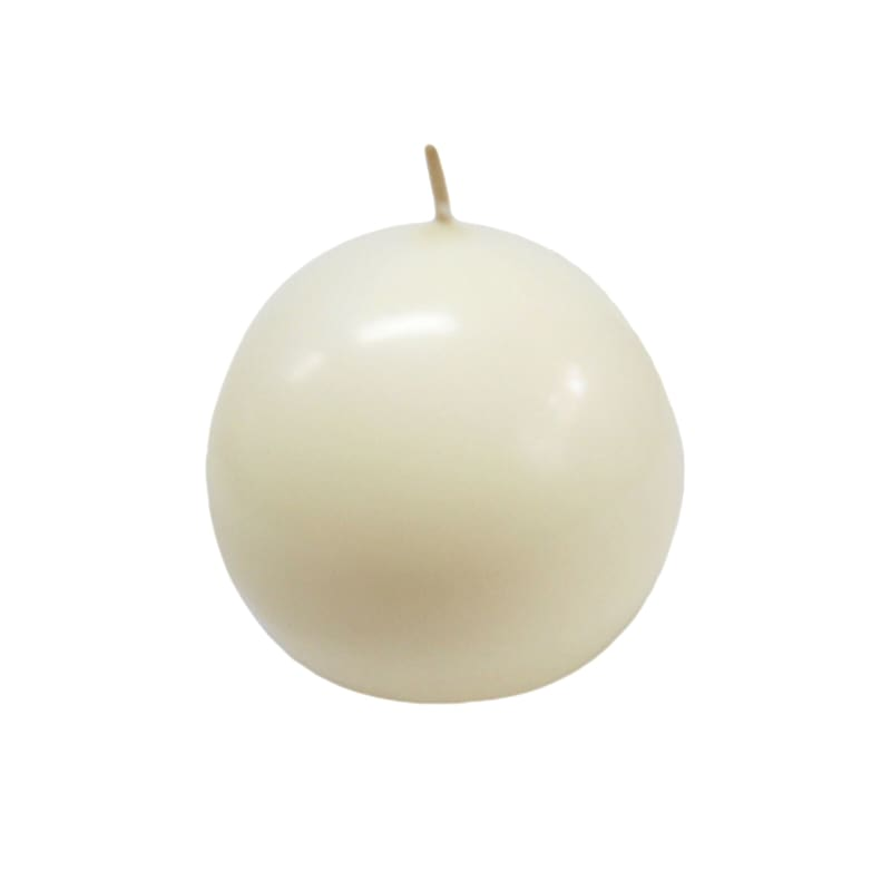 2.8in. Overdip Sphere Candle Ivory