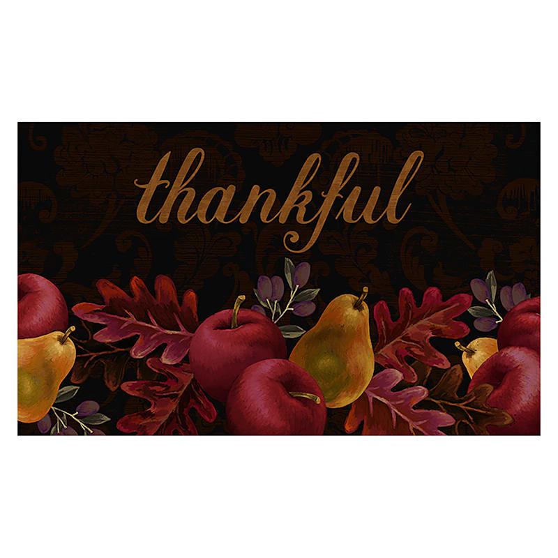 Thankful Harvest Black Doormat, 18x30