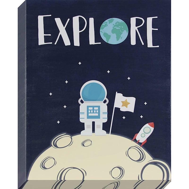 16X20 Explore Astronaut Textured