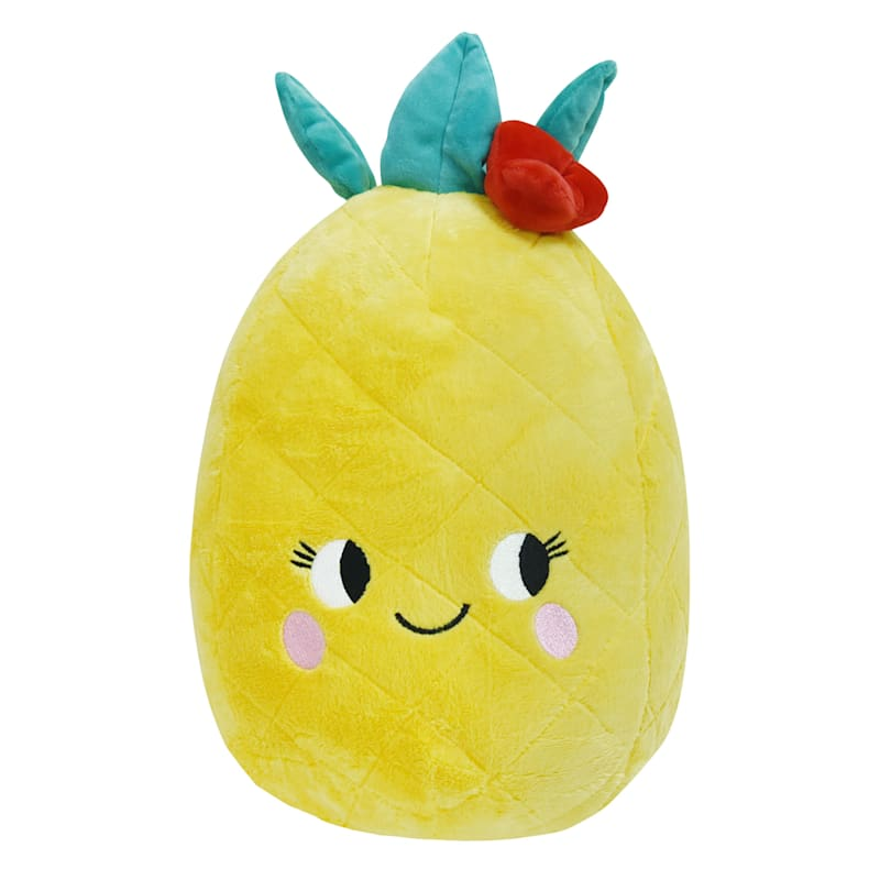 Happy Pineapple Plush Throw Pillow