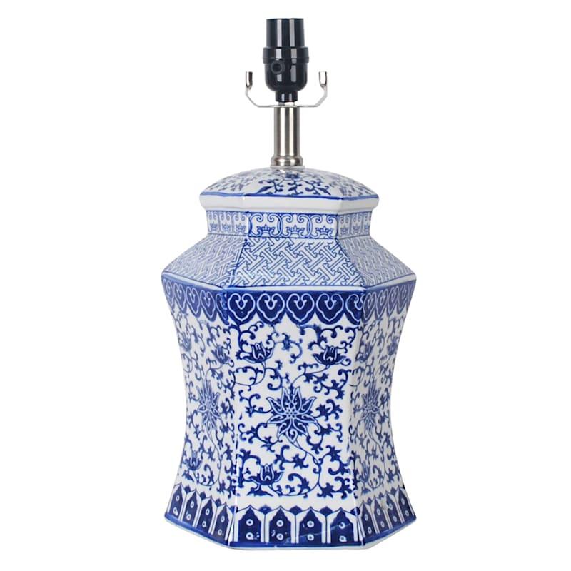 "Grace Mitchell Blue Ceramic Accent Lamp, 17"""