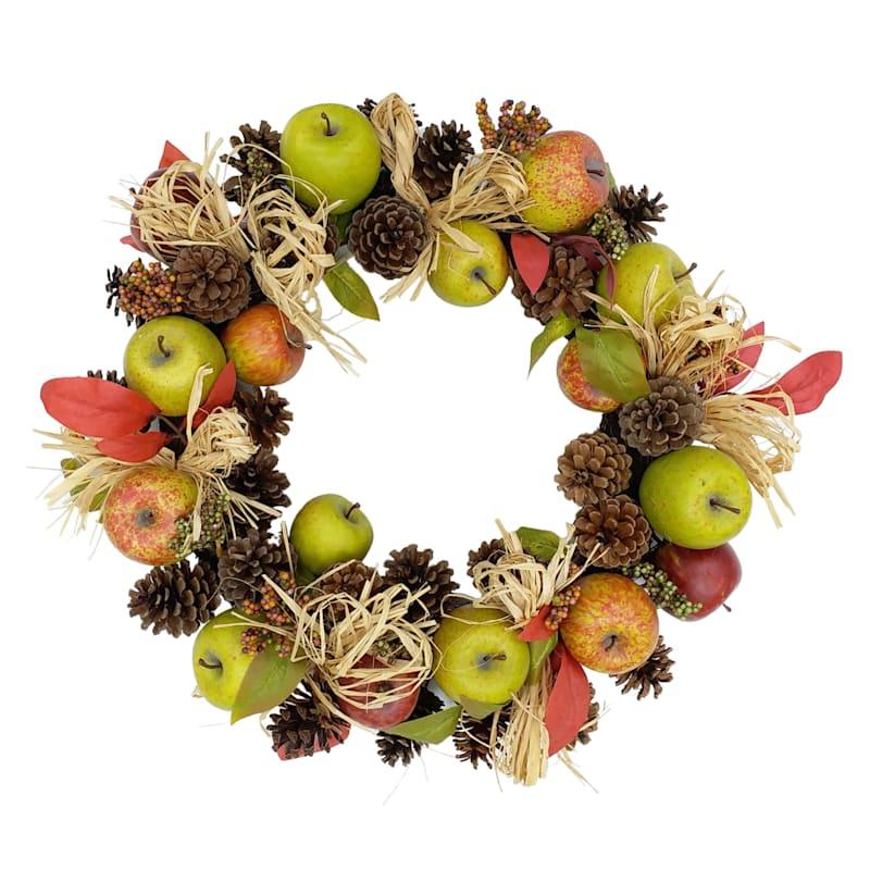 """Apple & Pinecone Wreath, 20"""""""