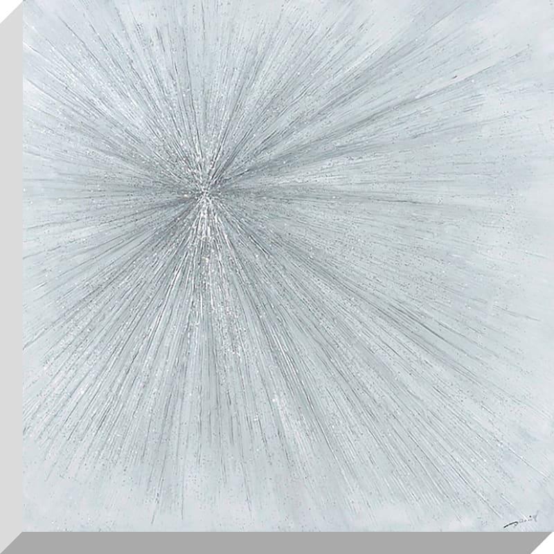 28X28 Abstract Sunburst Enhanced Canvas