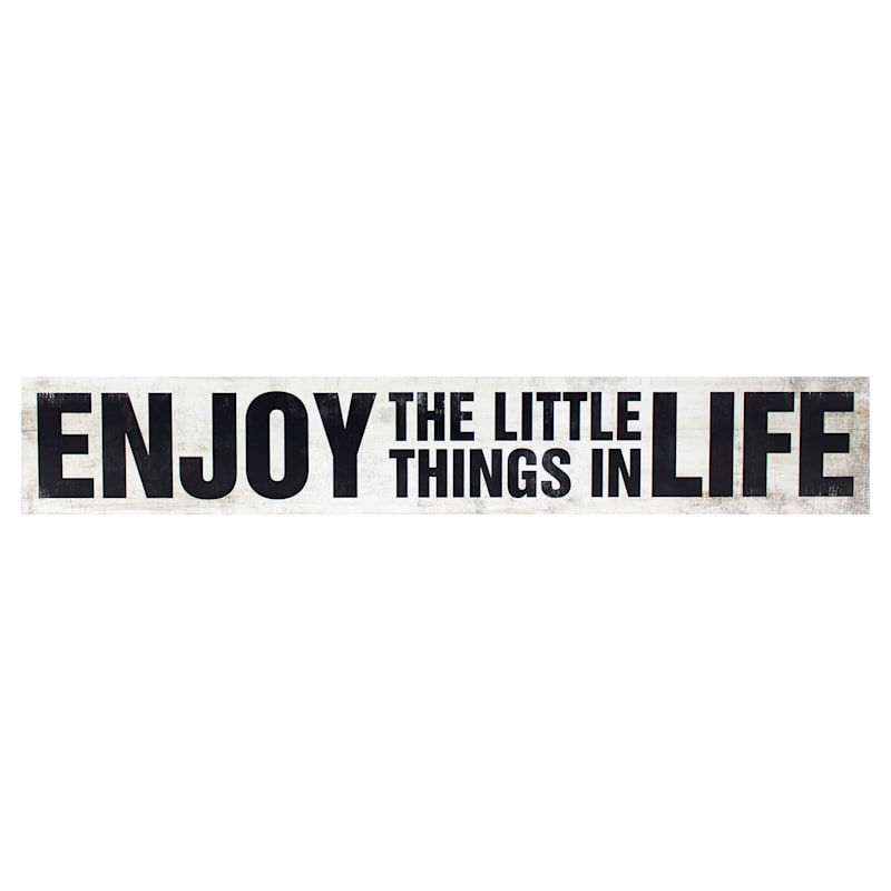 6X36 Enjoy The Little Things Wood Plaque