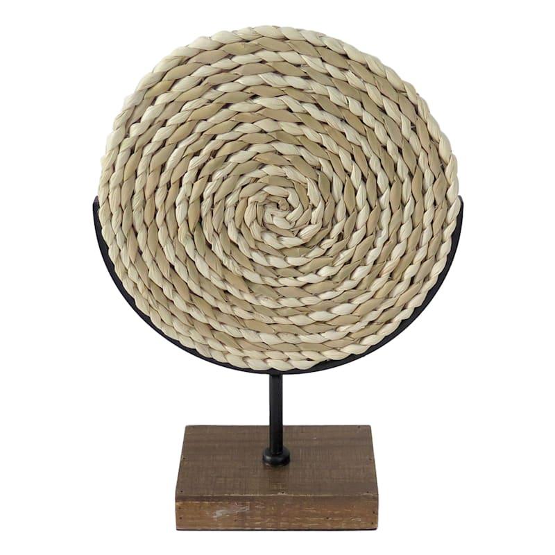 Woven Wheel Sculpture 12X17
