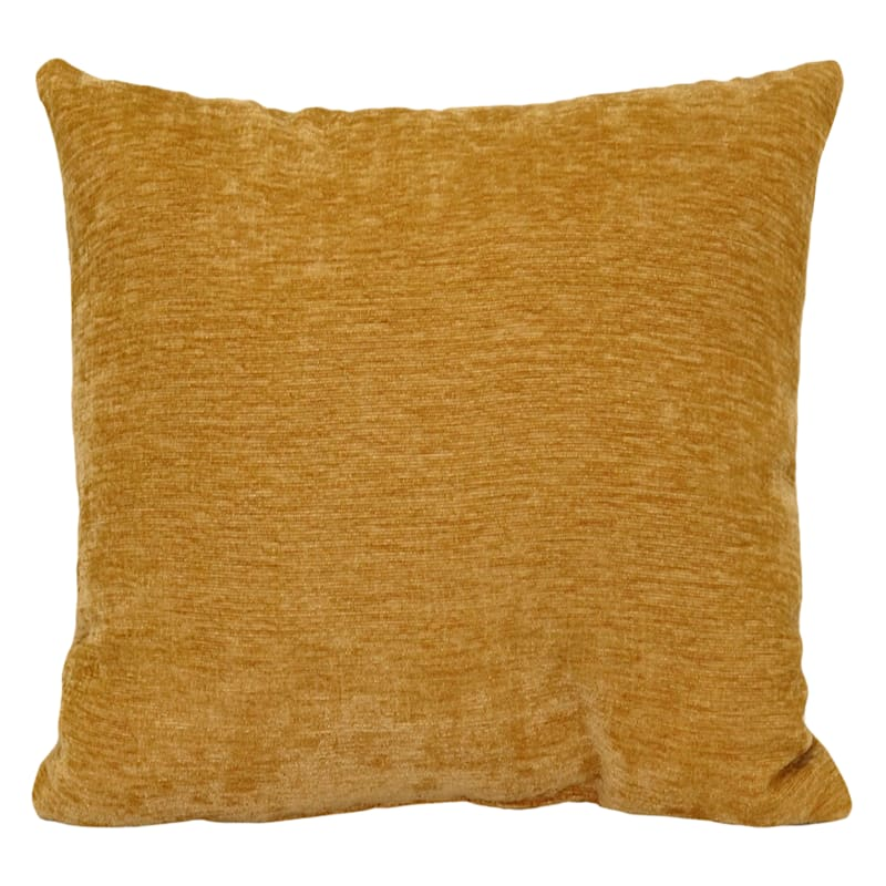 """Reese Gold Chenille Throw Pillow, 24"""""""
