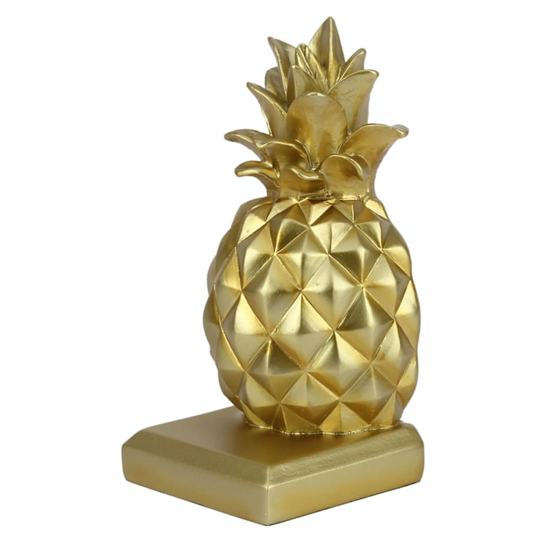3X7 Resin Gold Pineapple Bookend