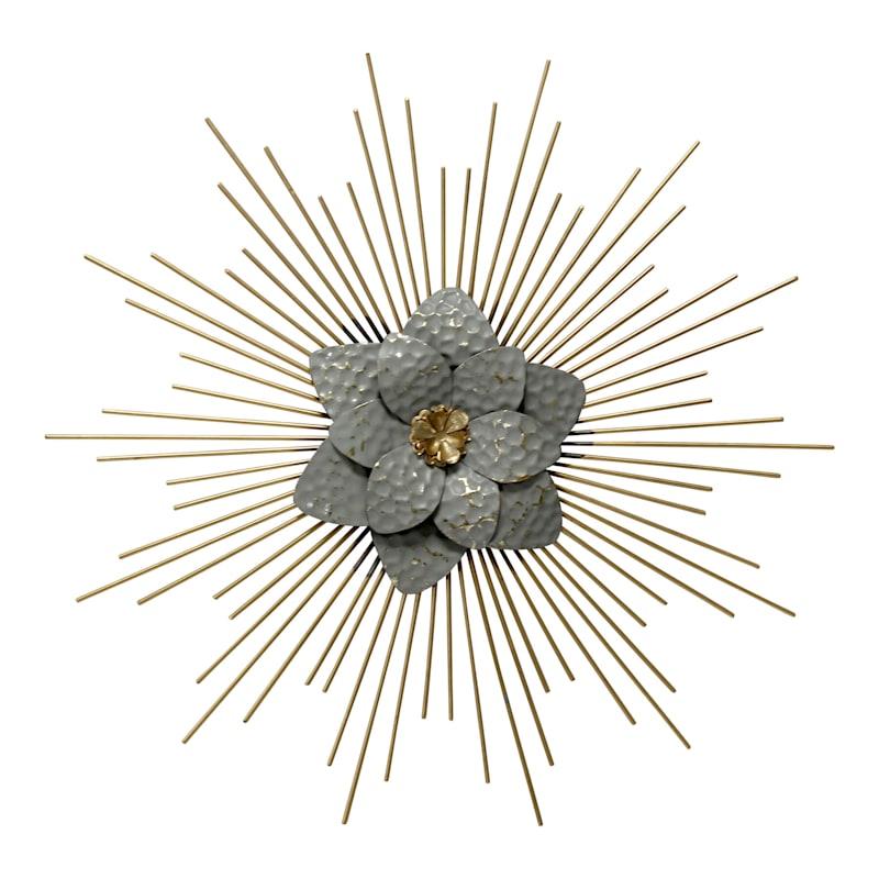 Grace Mitchell 20in. Metal Flower Burst Wall Decor