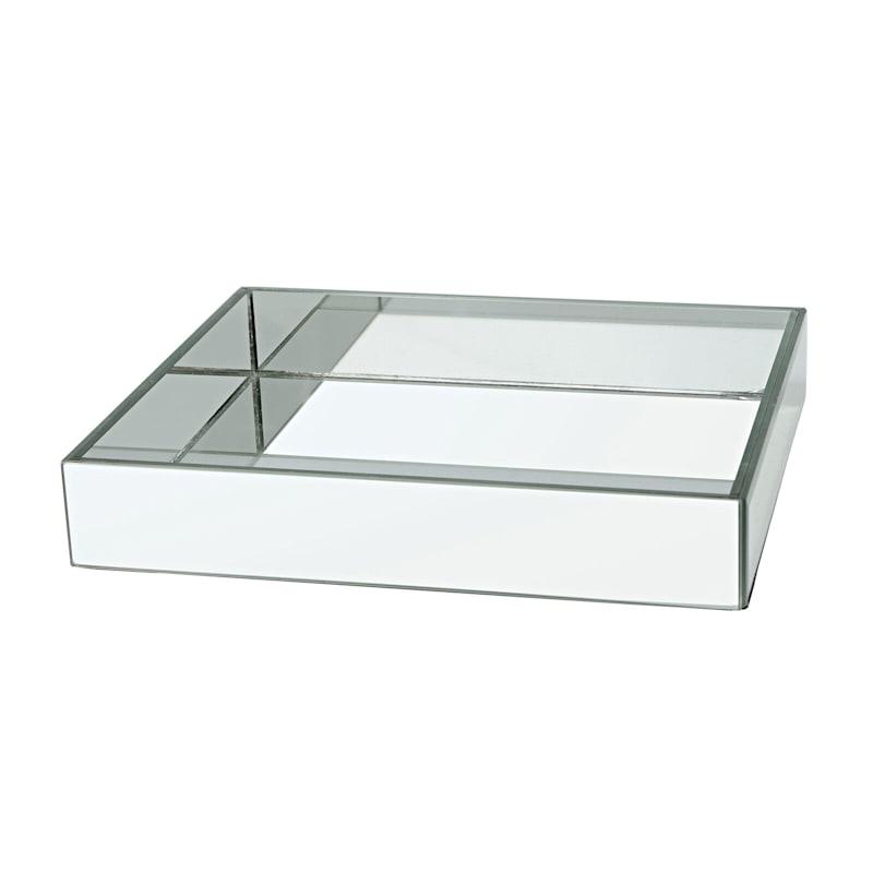 11x9 Silver Mirror Tray At Home, Silver Mirror Tray Rectangle