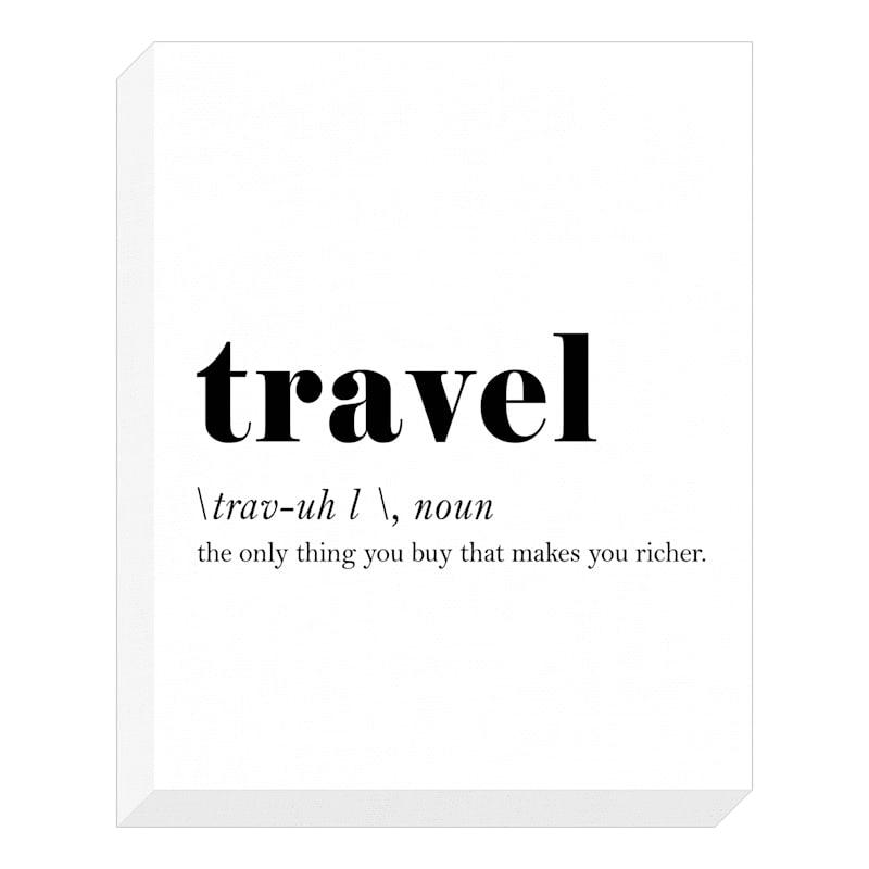 16X20 Travel Definition Textured Canvas