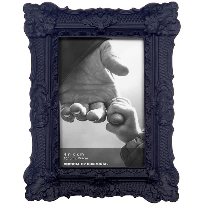 4X6 Black Ornate Profile Tabletop Photo Frame