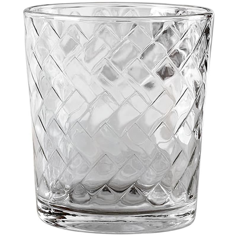 Chevron 4-Piece Double Old Fashioned Glass Set 12.5oz