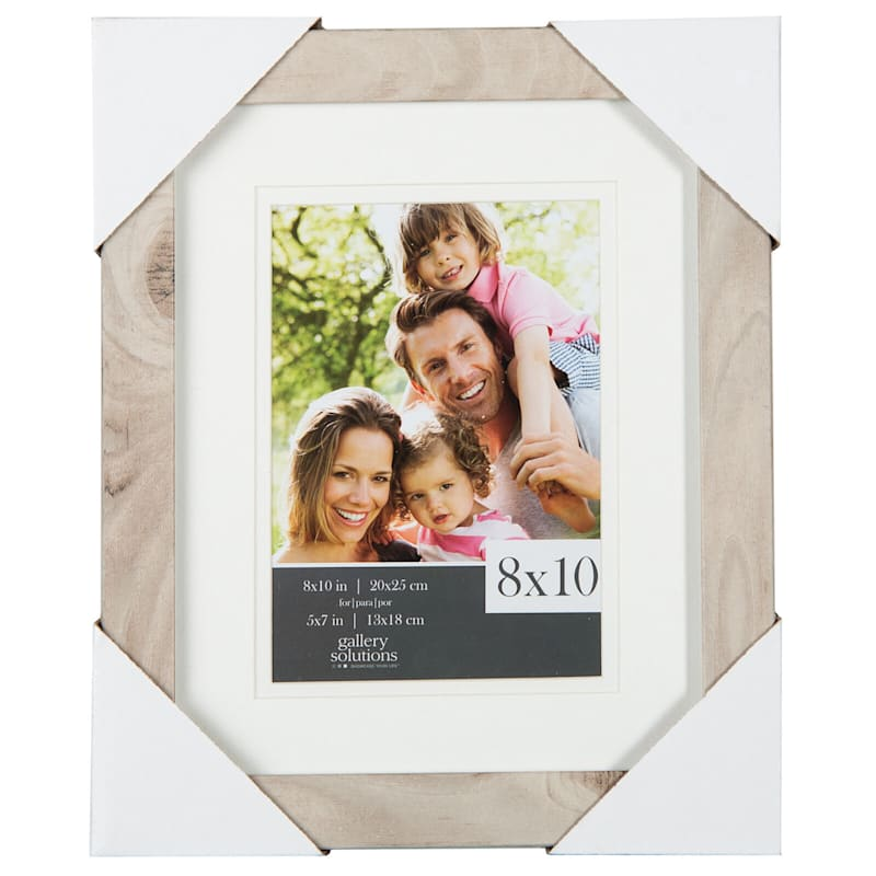 8X10 Matted To 5X7 Linear Profile Double Mat Portrait Photo Frame