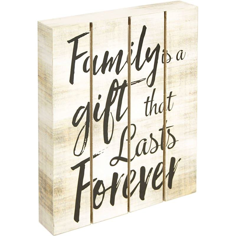 8X10 Family Is A Gift That Lasts Forever Tabletop Wood Block