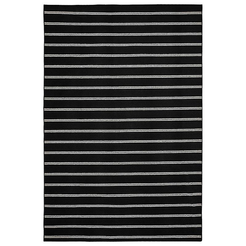 E315 Avery Black & White Stripe Indoor & Outdoor Area Rug, 5x7