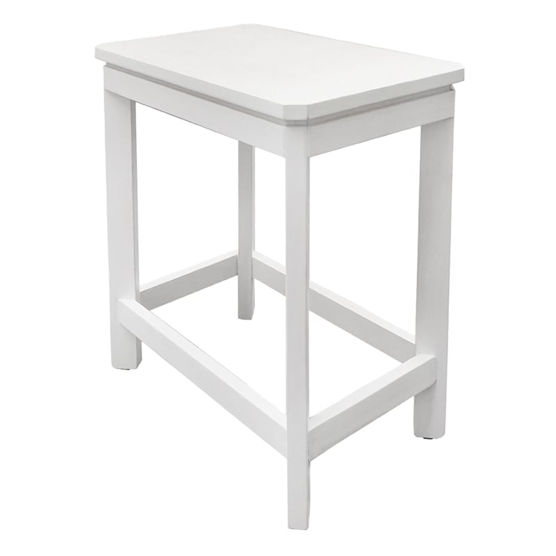 """Monroe Accent Table White, 18"""""""