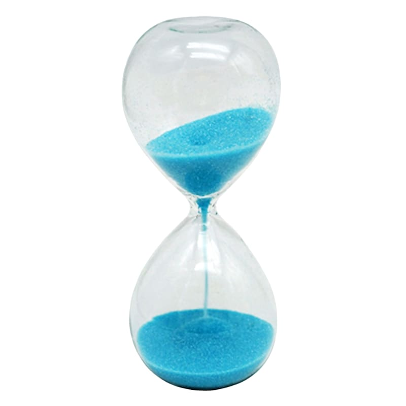 2X5 Glass Timer With Blue Sand