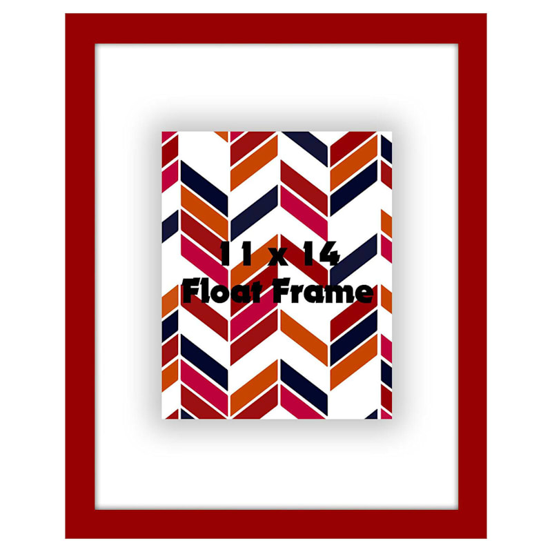 11 X 14-in Red Float Frame