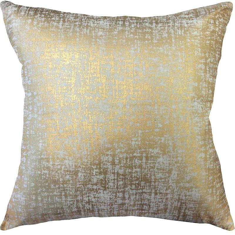 Luxor Gold Metallic Foil Pillow 18X18