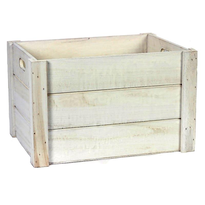 Wood White Wash Rectangle M
