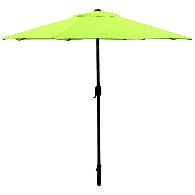 Steel Grass Round Crank & Tilt Outdoor Umbrella, 7.5'