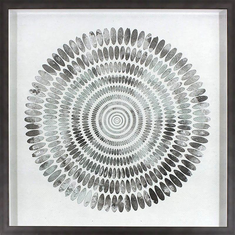24X24 Thumbprint Foiled Art Under Glass