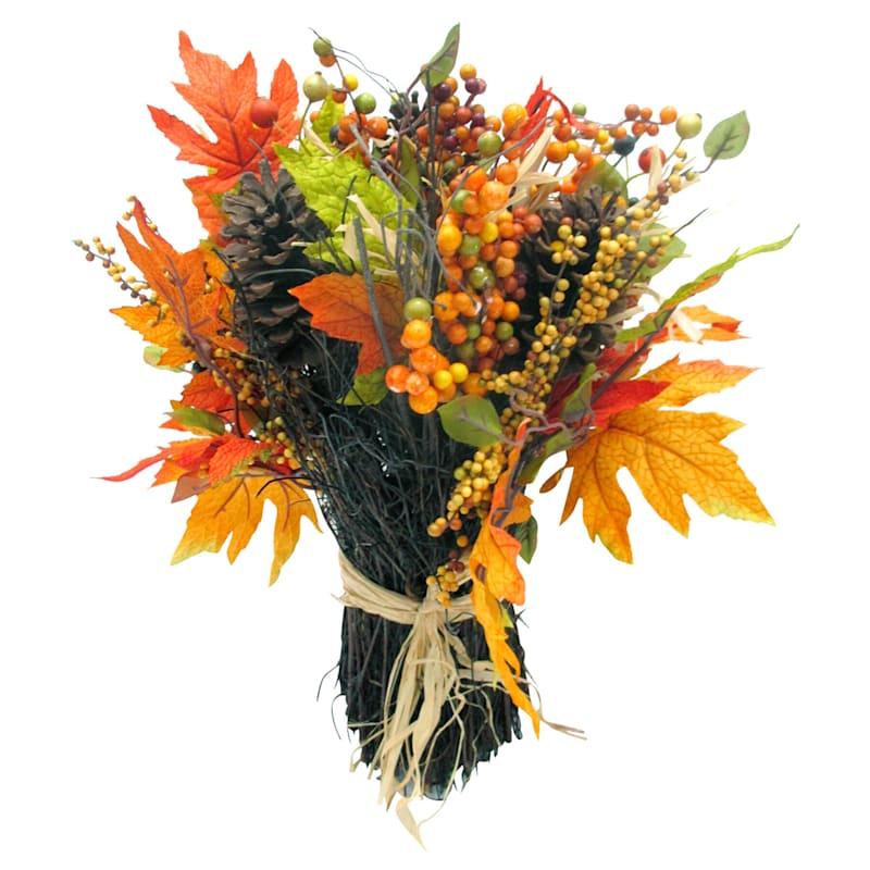 Multi-Color Leaves & Berry Spray Arrangement
