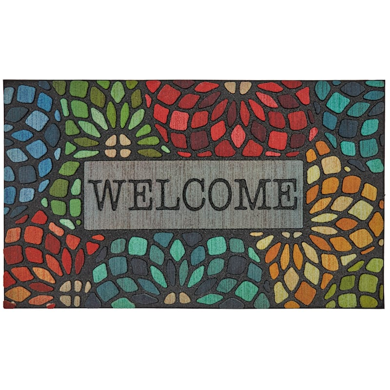 STAINED GLASS DOORMAT 18X30