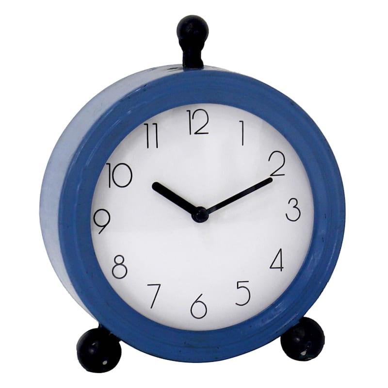 6X7 Metal Dark Blue Clock