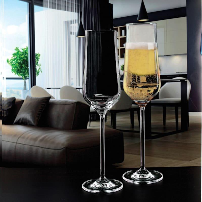 Champagne Flute Set Of 4 8oz Glasses