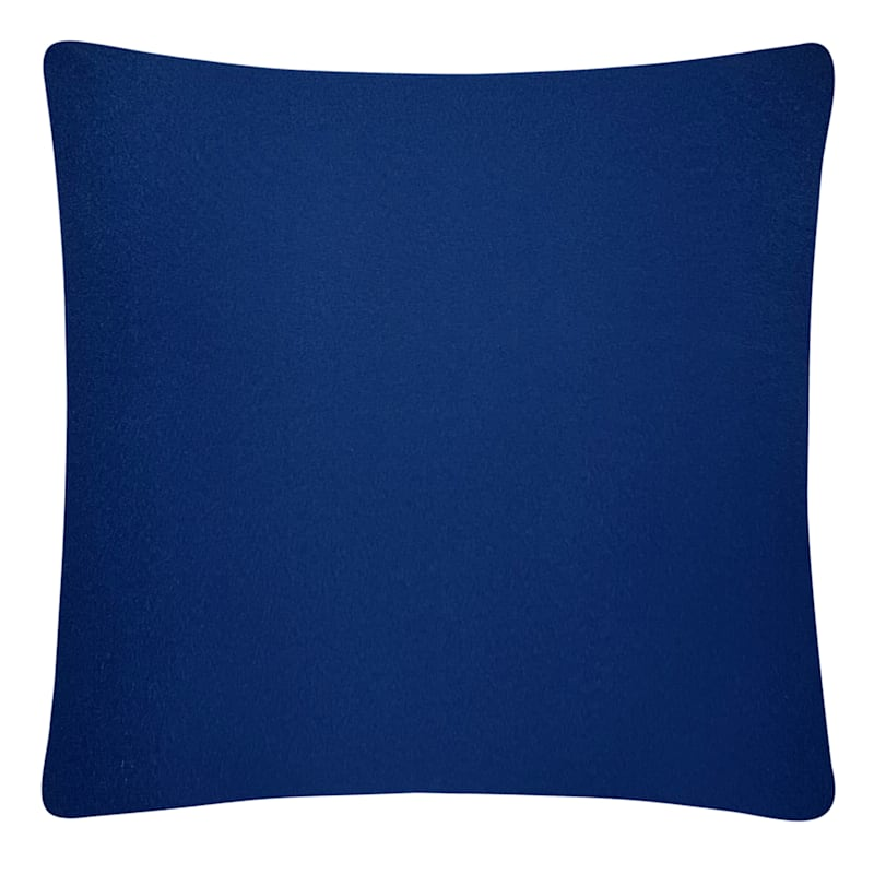 Navy Solid Color Pillow 25X25
