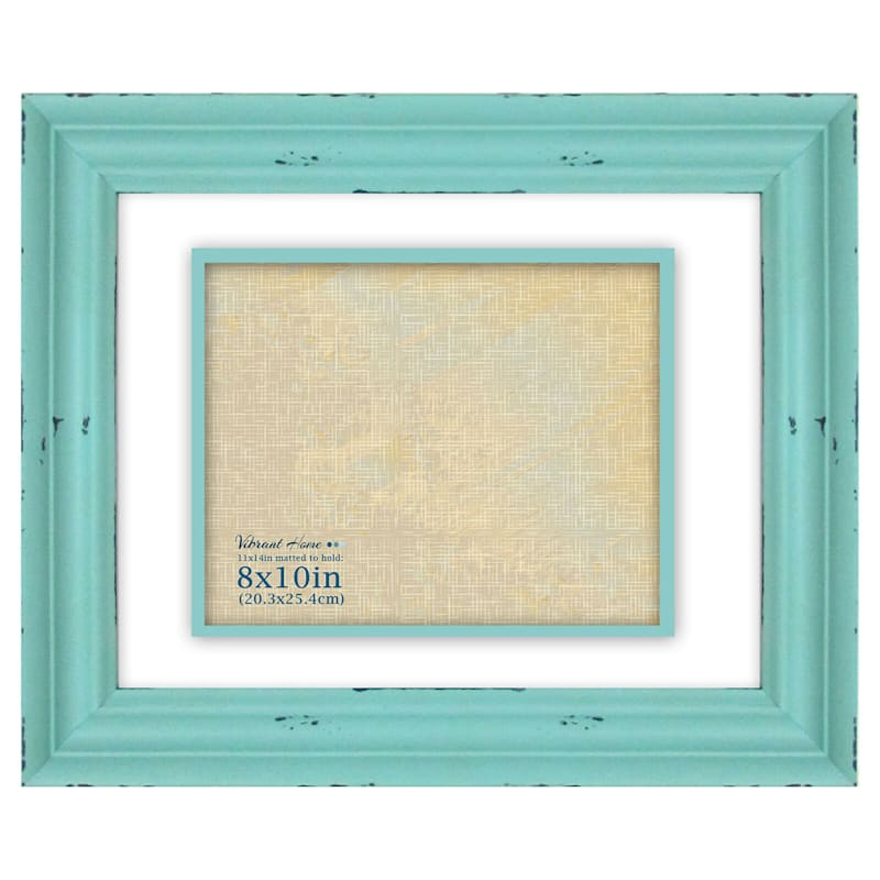 11X14 Aqua Photo Frame Holds 8X10 Photo