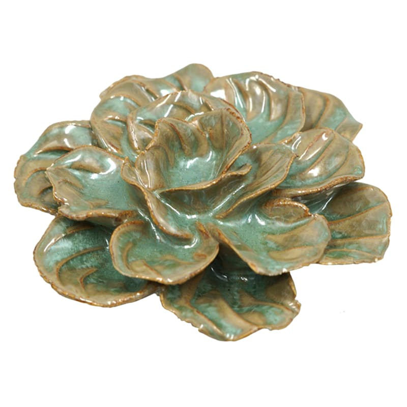 Grace Mitchell Green Ceramic Flower Decor