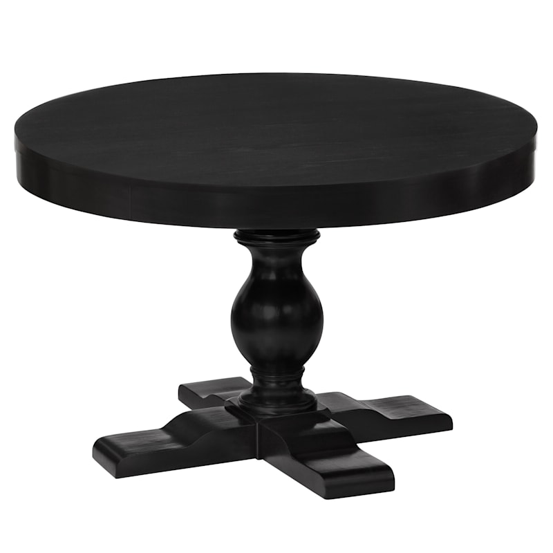 """Evening Mist Round Black Wooden Tabletop - Base sold separately, 48"""""""