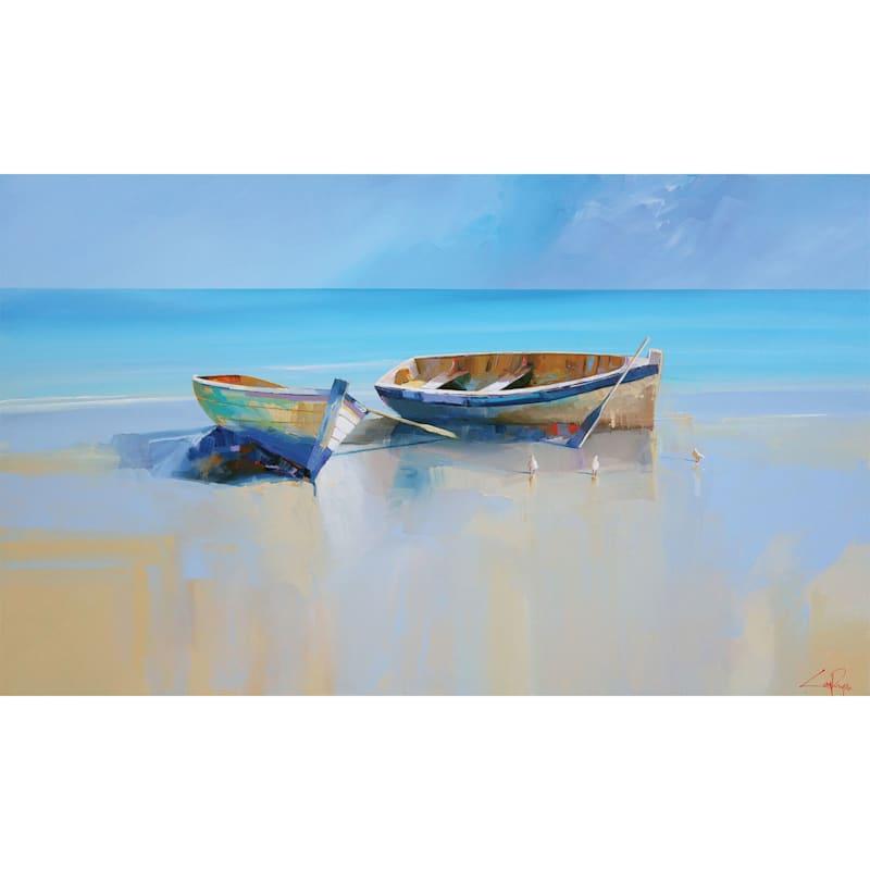 60X36 Afternoon Gulls Canvas Art